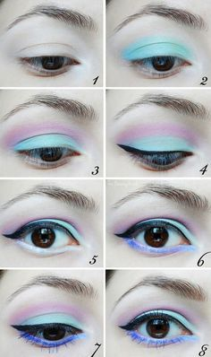 But you can pair black liner and lipstick with a bunch of pastel shadows. | How To Be A Pastel Goth .