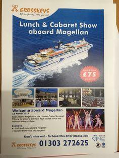 Lunch onboard the Magellan.  #magellan