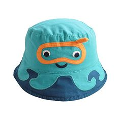 8c4ff3d972d Home Prefer Boys Floppy Brim Bucket Hat with Strap Cartoon Sun Protection  Cap