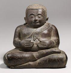 The Buddhist Disciple Phra Sankachai, Bronze with traces of gilt; eyes inlaid with shell and garnet, Thailand Buddha Buddhism, Buddhist Art, Asian History, Art History, Standing Buddha, Southeast Asian Arts, Thailand Art, Thai Art, Sacred Art