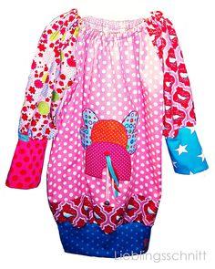 kunterbunte Tunika für Kinder  colorful tunik skirt for kids