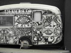 cool camper - interesting paint job