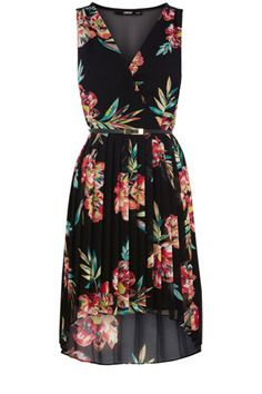 Oasis Formal | Multi Black Tropical Midi Dress | Womens Fashion Clothing | Oasis Stores UK ($100-200) - Svpply