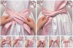 Como hacer un lazo a un vestido paso a paso