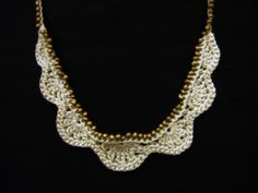 beaded silk crocheted necklace by Minus Sun