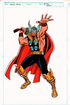 Corner box art of bearded Thor by Ron Frenz (1991)