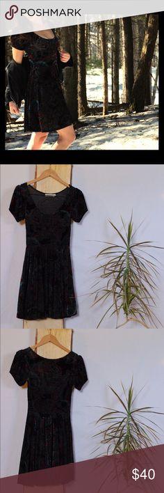 MINKPINK Velvet Skater Dress - MINKPINK Velvet Skater Dress    - Paisley print in red, black and blue  - 82% polyester 18% elastane  - Gently used, only worn once MINKPINK Dresses Mini