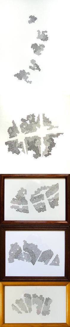 """Lichens"" - 2014 - Ink drawing on paper http://jeromerouchon.com/travaux/lichens/"