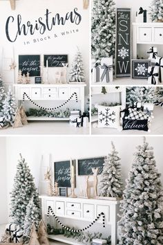 Transitional Black & White Home Decor For Christmas and Winter