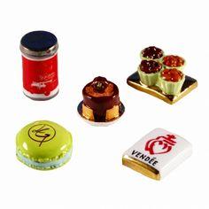 【フェーブ】お菓子 5個 - GELENCSER 2010年 (M)(S) - フェーヴ販売 - 日本最大!陶器小物雑貨通販のフェーブなつじかん