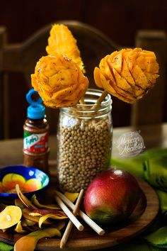 A super popular Mexican snack of fresh mango cut into a shape of a flower and drizzled with lime juice and ground chile pepper. You'll often find them sold by street vendors all over Mexico, …