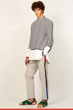 NOTE/IDEA : pant and shirt style/pattern/details -- Tommy Hilfiger Spring 2017 Menswear collection.
