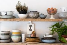 Kay's collection of ceramics are from Broste, Anthropologie, Day Birger, and from a village in France.