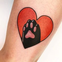 Paws up for this ameowzing cattoo by We love the adorable strawberry beans! Dope Tattoos, Pretty Tattoos, Mini Tattoos, Unique Tattoos, Body Art Tattoos, Black Cat Tattoos, Tatoos, Dibujos Tattoo, Kawaii Tattoo