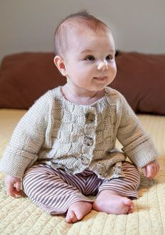 free pattern for this cute little baby sweater.