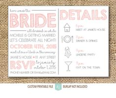 Printable bachelorette invite. Simply download and print. Click through for matching games, decorations, and more. Or shop our 1000+ designs for all of life's journeys. Shop for anniversaries, birthdays, weddings, and more. If you celebrate it, we can design it. Only at Aesthetic Journeys.