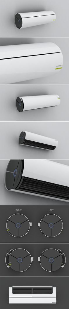 Air conditioner by Maxime Meziere, via Behance