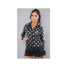 adidas:The Firebird Track Top in Black and White Polka Dots. Want! too bad it appears to be sold out everywhere.