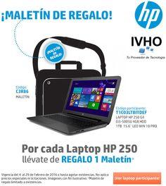 #IvhoPromo ¡Maletines de regalo en la compra de un equipo Hp 250!