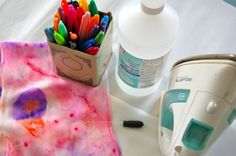 A tutorial on how to dye scarves with permanent markers.