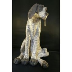 Paul Jenkins - Raku Dog - much admired artist captures the character and proportions in his sculptures perfectly  #raku #dog #ceramics #art #gallery