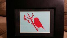 Cornice uccello su un ramo tagliato di NJCountryShop su Etsy