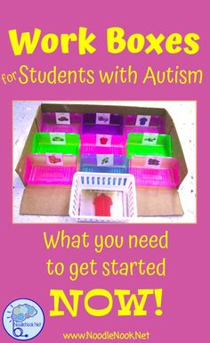Work Boxes for Autism Units or LIFE Skills.
