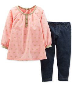 Carter's Baby Girls' 2-Piece Top & Jeggings Set