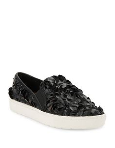Imnyc Isaac Mizrahi Carmen Slip-On Faux Leather Sneakers Women's Black