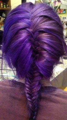 Manic Panic Ultra Violet <3 this is my hair btw. Deep purple. Dark purple. Purple