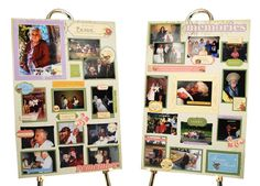 Idea for the service: Photo boards - a collage of family photos and photos of the deceased to display at the memorial service or celebration of life ceremony.