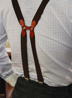 ' — Suspenders Gentleman's Essentials Sharp Dressed Man, Well Dressed Men, Mens Style Guide, Lookbook, Gentleman Style, Modern Gentleman, Leather Craft, Style Guides, Men Dress