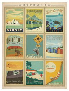Australia Multi Print Art by Anderson Design Group - at AllPosters.com.au
