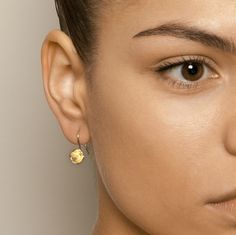 Martina Hamilton Shell Yellow Gold Plated Silver Earrings