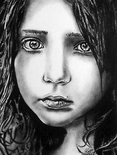 """Anna"" ~ charcoal on paper ~ 30""x24"" ~ 2008 ~ www.rupeshpatric.com"