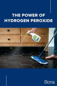 Hydrogen peroxide is an effective disinfectant and its foaming action aids in cleaning. That's why our Bona PowerPlus Antibacterial Hard-Surface Floor Cleaner uses the power of hydrogen peroxide to effectively clean and disinfect floors.