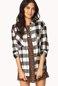 Rustic Plaid Flannel | FOREVER21 - 2000111614--Get in my closet! #WishPinWin #ForeverHoliday