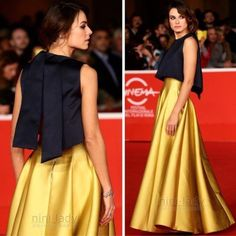 2017 Gold Long Skirts Party Womens Ladies Prom Pageant Celebrity Pocket Skirt