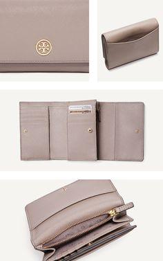 The Robinson Medium Flap Wallet in French Grey