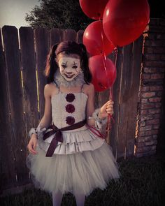 100 Cool DIY Halloween Costume for Kids for 2019 – Hike n Dip - halloween disfraces Scary Girl Halloween Costumes, Pennywise Halloween Costume, Looks Halloween, Theme Halloween, Kids Costumes Girls, Halloween Tags, Halloween Costumes Women Scary, Creepy Doll Costume, Little Girl Halloween Costumes