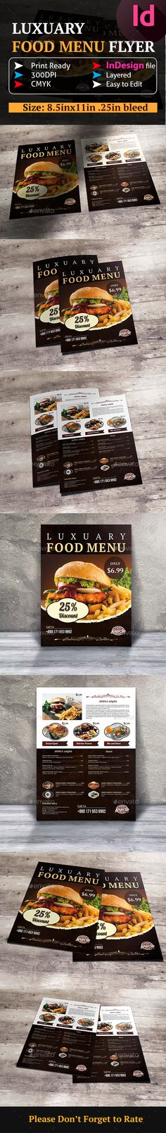 Food And Pizza Menu Flyer   Pizza Menu Flyer Template And Font