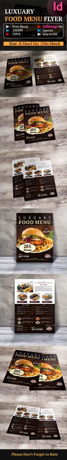 Food And Pizza Menu Flyer 09 Pizza menu, Flyer template and Font - menu flyer template