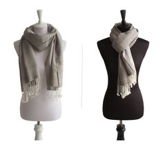 Baumwollschal Grau Weiß   Traditionelle Handarbeit aus Thailand   Größe: ca. 180 x 60 cm   Material: 100% Baumwolle   Farbe: Grau Weiß