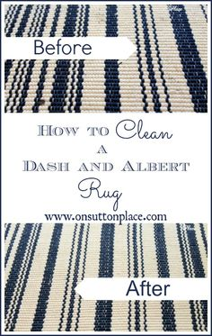 How To Clean a Dash & Albert Rug