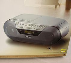 Sony CFD-S05 CD Boombox Portable Stereo CD Player Cassette Tape Radio Boom Box #Sony