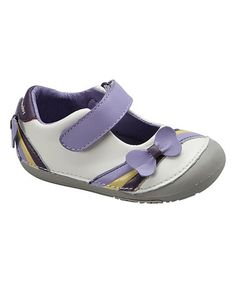 This White Ribbons & Bows Leather Mary Jane by MOMO Baby is perfect! #zulilyfinds