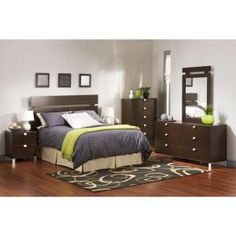 South Shore Spectra 6-Drawer Chocolate Dresser 3259010 at The Home Depot - Mobile