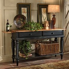 Wilshire Sideboard Table in Pine Finish by Hillsdale Furniture