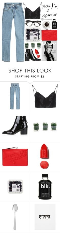 """""""survivor"""" by evangeline-lily ❤ liked on Polyvore featuring Vetements, Alexander Wang, Topshop, Emilio Pucci, NARS Cosmetics, Pier 1 Imports, Zara, denim, AlexanderWang and topshop"""