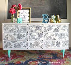 tween room decor--doodle dresser
